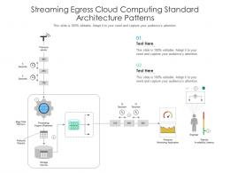 Streaming Egress Cloud Computing Standard Architecture Patterns Ppt Powerpoint Slide
