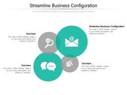 Streamline Business Configuration Ppt Powerpoint Presentation Portfolio Elements Cpb