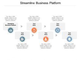 Streamline Business Platform Ppt Powerpoint Presentation Outline Brochure Cpb