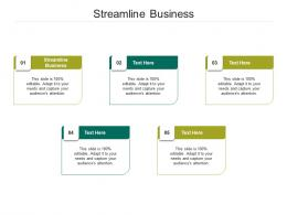 Streamline Business Ppt Powerpoint Presentation Pictures Display Cpb