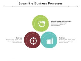 Streamline Business Processes Ppt Powerpoint Presentation Outline Model Cpb