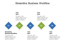 Streamline Business Workflow Ppt Powerpoint Presentation Icon Deck Cpb