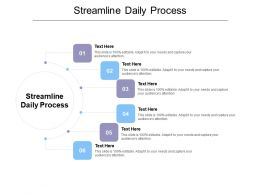 Streamline Daily Process Ppt Powerpoint Presentation Professional Graphics Cpb