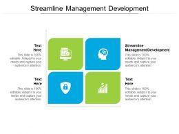 Streamline Management Development Ppt Powerpoint Presentation Visual Aids