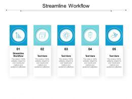 Streamline Workflow Ppt Powerpoint Presentation Ideas Rules Cpb