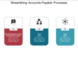 Streamlining Accounts Payable Processes Ppt Powerpoint Presentation Design Cpb