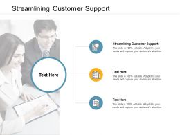 Streamlining Customer Support Ppt Powerpoint Presentation Clipart Cpb