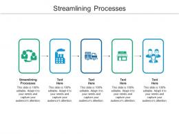 Streamlining Processes Ppt Powerpoint Presentation Pictures Graphics Template Cpb