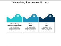 Streamlining Procurement Process Ppt Powerpoint Presentation Icon Example Introduction Cpb