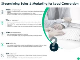 Streamlining Sales And Marketing For Lead Conversion Ppt Slides