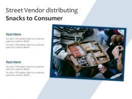 Street Vendor Distributing Snacks To Consumer
