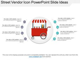 Street Vendor Icon Powerpoint Slide Ideas