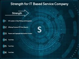 Strength For IT Based Service Company