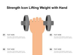 Strength Icon Lifting Weight With Hand