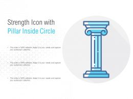 Strength Icon With Pillar Inside Circle