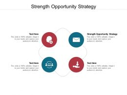 Strength Opportunity Strategy Ppt Powerpoint Presentation Infographics Master Slide Cpb
