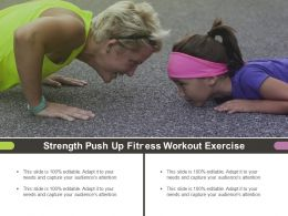 Strength Push Up Fitness Workout Exercise