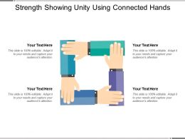Strength Showing Unity Using Connected Hands