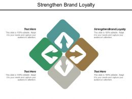 Strengthen Brand Loyalty Ppt Powerpoint Presentation Layouts Design Ideas Cpb