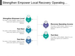Strengthen Empower Local Recovery Operating Income Sustained Growth