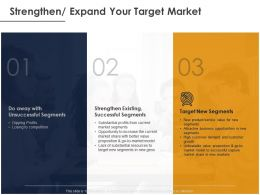 Strengthen Expand Your Target Market Ppt Powerpoint Presentation File Infographics