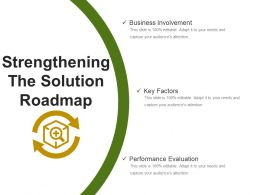 Strengthening The Solution Roadmap Presentation Layouts