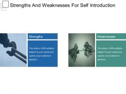Strengths And Weaknesses For Self Introduction Presentation Graphics