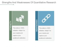 Strengths And Weaknesses Of Quantitative Research Powerpoint Slide Designs Download