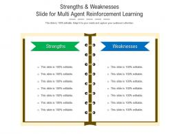 Strengths And Weaknesses Slide For Multi Agent Reinforcement Learning Infographic Template