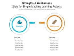 Strengths And Weaknesses Slide For Simple Machine Learning Projects Infographic Template