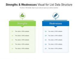 Strengths And Weaknesses Visual For List Data Structure Infographic Template