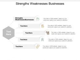 Strengths Weaknesses Businesses Ppt Powerpoint Presentation Outline Ideas Cpb