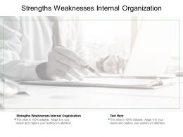 Strengths Weaknesses Internal Organization Ppt Powerpoint Presentation Download Cpb