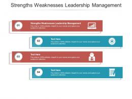 Strengths Weaknesses Leadership Management Ppt Powerpoint Presentation Summary Display Cpb
