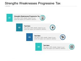 Strengths Weaknesses Progressive Tax Ppt Powerpoint Presentation File Cpb