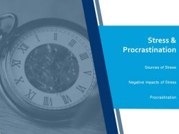 Stress And Procrastination Ppt Portfolio Maker