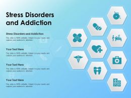 Stress Disorders And Addiction Ppt Powerpoint Presentation Model Portfolio