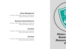 Stress Management Business Human Resource Market New Product