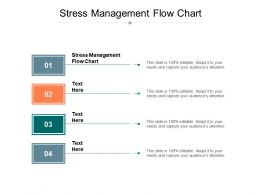 Stress Management Flow Chart Ppt Powerpoint Presentation Infographic Template Good Cpb