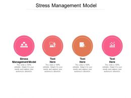Stress Management Model Ppt Powerpoint Presentation Inspiration Example Cpb
