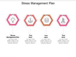 Stress Management Plan Ppt Powerpoint Presentation Layouts Graphics Download Cpb