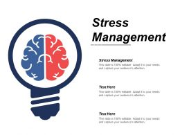 Stress Management Ppt Powerpoint Presentation Infographic Template Information Cpb