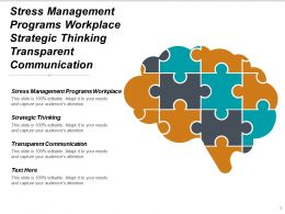 Stress Management Programs Workplace Strategic Thinking Transparent Communication Cpb