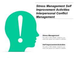 Stress Management Self Improvement Activities Interpersonal Conflict Management Cpb
