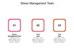 Stress Management Team Ppt Powerpoint Presentation Outline Background Designs Cpb