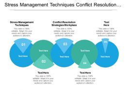 Stress Management Techniques Conflict Resolution Strategies Workplace Employee Competency Cpb