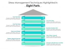 Stress Management Techniques Highlighted In Eight Parts
