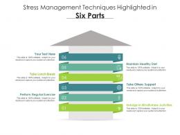 Stress Management Techniques Highlighted In Six Parts