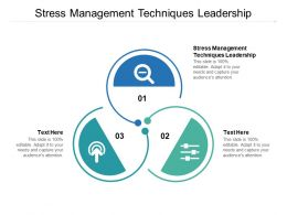 Stress Management Techniques Leadership Ppt Powerpoint Presentation Icons Cpb