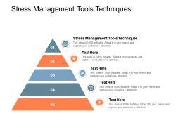 Stress Management Tools Techniques Ppt Powerpoint Presentation Portfolio Guidelines Cpb